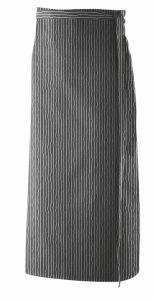 Bistroschürze mit Seitenschlitz mittig 100x100cm 2 farbig
