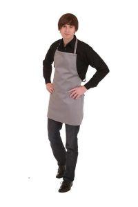Kochschürze grau 65 x 60 cm ideal zum bedrucken oder besticken