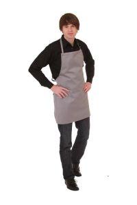 Kochschürze grau 65 x 65 cm