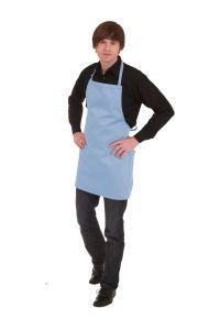 Kochschürze hellblau 70 x 65 cm
