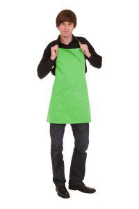 Kochschürze mit Tasche 60 x 65 cm hellgrün
