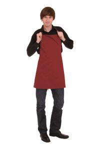 Kochschürze mit Tasche 70 x 70 cm bordeaux