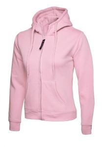 Ladies Classic Full Zip Hooded Sweatshirt