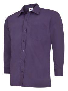 Mens Poplin Full Sleeve Shirt Purpur