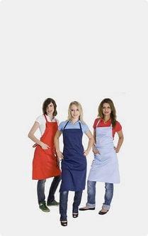Schürzen Latzschürzen Kochschürzen Grillschürzen mit Logo und Text besticken